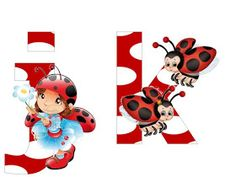S.T.R.U.M.F.: Litere mari si cifre buburuze Smurfs, Alphabet, Minnie Mouse, Disney Characters, Fictional Characters, Collage, Ladybugs, Reptiles, Insects