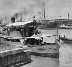 U.S. gunboat Napidan in service in the Philippines in 1898.