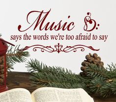Music Wall Decal Words  Music Says The Words by HouseHoldWords, $19.00