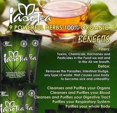"""Iaso™ Tea This unique all-natural blend of 9 essential herbs is designed to cleanse the upper and lower intestines, ridding the body of toxins and some really nasty parasites. Just 8 ounces of this mild tea twice daily can provide you with dramatic results. Find out why some have even called this amazing drink """"a miracle"""" tea. Check out our products at http://totallifechanges.com/detoxifyu"""