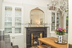 Image result for dining room alcove shelves