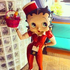 Betty boop is ready for Easter  don't forget to enter our jelly mean guessing game while your here! #MelsDiner #SWFL #American #Restaurant #Diner #Breakfast #Brunch #Lunch #Dinner #DinerFood #Desserts #Drinks