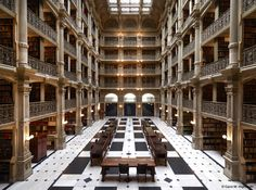 The George Peabody Library,Baltimore, USA (America)