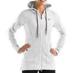 Under Armour Women's Wintersweet Full Zip Hoodie - White/ Charcoal