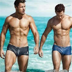 522c2524334 Fashion Mens Swim Swimsuit Swimming Boxer Briefs Beach Swimwear Shorts  Underwear Ropa Interior Masculina