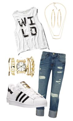 """Wild"" by diamondblayze on Polyvore featuring Frame Denim, Abercrombie & Fitch, adidas, Charlotte Russe and Brooks Brothers"