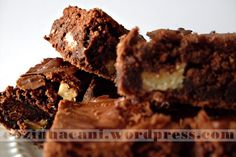 Brownie com Nozes - ao inves de Nozes gosto de adicionar castanha do pará... delícia!