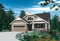 Craftsman Touches With Options - 6906AM | Cottage, Country, Craftsman, Northwest, Narrow Lot, 1st Floor Master Suite, CAD Available, PDF | Architectural Designs