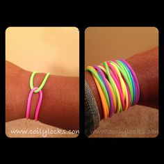 It was much more fun to wear the jelly bracelets weaved around each other! Jelly Bracelets, Childhood Days, Good Ole, Sweet Memories, The Good Old Days, Diy Costumes, Rugs On Carpet, Jewelry Crafts, Manicure