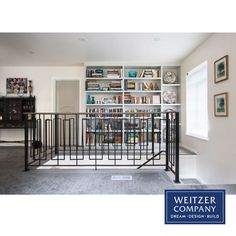 This second story was previously broken up into small dark rooms. We removed walls and opened up the space, transforming it into a large bright landing. The stairway was redone to turn right away from the bookshelf and the railing design was chosen for its smaller visual footprint, helping the room to retain its new bright airy feeling.  #architecture #craftsmanship #designbuild #interior #interiordesign #interiors #pdxarchitecture #pdxcontractor #pdxdesign #pdxremodel #portlandcontractor Construction Services, New Construction, Dark Rooms, Railing Design, Second Story, Footprint, Stairways, Bookshelves, Landing