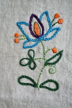 PDF embroidery pattern: Bewitching Botanicals – floral folklore motifs - Mend Tutorial and Ideas Hand Embroidery Videos, Hungarian Embroidery, Folk Embroidery, Embroidery Transfers, Hand Embroidery Stitches, Hand Embroidery Designs, Embroidery Techniques, Ribbon Embroidery, Cross Stitch Embroidery