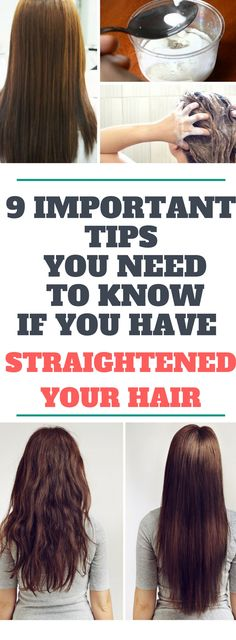 9 Important Tips You Need To Know If You Have Straightened Your Hairr.! Here is!!