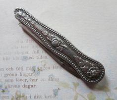 Antique Victorian Coin Silver Fruit Knife Pocket by MiladyLinden