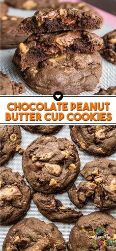 The Best Chocolate Peanut Butter Cup Cookies. A fantastic peanut butter cookie recipe!-