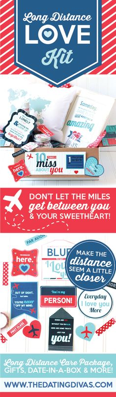 Long Distance Love Kit- all the printables you need for a FUN Long Distance Care Package. This is SOOOOOO sweet!