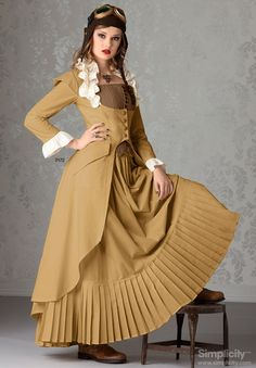 """You put Victorian fashion with the elements of the industrial revolution such as steam and create Steampunk. """"Steampunk is a sub-genre of scien… Steampunk Couture, Viktorianischer Steampunk, Steampunk Cosplay, Steampunk Clothing, Steampunk Fashion, Victorian Fashion, Gothic Fashion, Vintage Fashion, Steampunk Dress"""