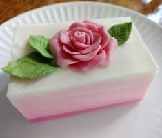 Rose soap made with soap dough roses is cut!  Check out my YouTube channel (Amy Warden) to see the Mash Up video and witness  the near disaster that I had making this soap. *yikes*. #soapdough #soapchallengeclub