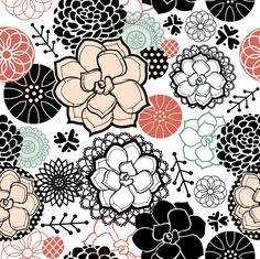 Succulents fabric by sarah_treu on Spoonflower - custom fabric