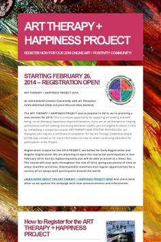 ART THERAPY + HAPPINESS PROJECT, official announcement from art therapists Janet McLeod [New Zealand] and Cathy Malchiodi [USA]; come join our international community.