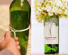 Dave matthews band table pieces. Need to do this with my DMB wine bottle