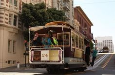 Take the California Street line: Grab a picnic lunch Cowgirl Creamery cheese and crusty French bread near the beginning of the route at the Ferry Building Marketplace and hop on the cable car at the foot of California Street. Then at Van Ness Avenue, walk to Lafayette Square for a hilltop picnic. Afterward, window-shop Upper Fillmore St  (Tip: shoot east downhill as you approach Stockton Street; the Bay Bridge tower is briefly framed just right between downtown skyscrapers.)