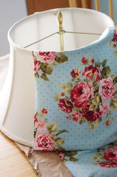 Clever Crafty Creative: Lampshade Makeover Tutorial                                                                                                                                                                                 More