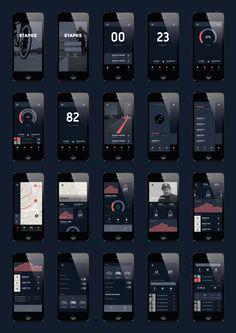 etapes App by Martin Drozdowski, via Behance #ResponsiveDesign #Responsive #Design #WebDesign #Design #GUI #UI #U #Brnading