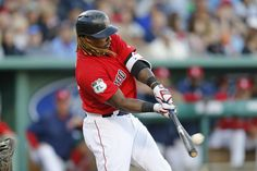Shoulder soreness hasn't hindered Hanley Ramirez at the plate, but it has kept him out of the field.