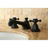 Found it at Wayfair - Metropolitan Double Handle Widespread Bathroom Faucet with Brass Pop-up