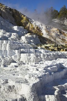 Stock image of Picturesque Mammoth Hot Springs in Yellowstone national park in the USA