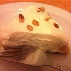 A rich pie filled with fluffy vanilla creme is topped with sweetened whipped cream and sprinkled with chopped walnuts for a favorite old-time dessert. Pie Recipes, Great Recipes, Dessert Recipes, Favorite Recipes, Amish Recipes, Sweetened Whipped Cream, Tasty, Yummy Food, Desert Recipes
