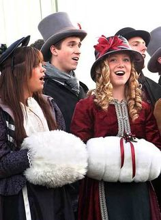 Dress up and go Christmas caroling. Not complete until backwards carol is performed. English Christmas, Christmas Town, Merry Christmas To All, Old Fashioned Christmas, Christmas Villages, Victorian Christmas, Christmas Music, Little Christmas, Christmas Carol