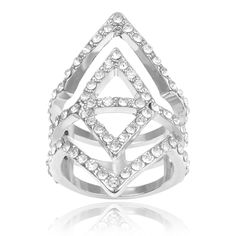 Journee Collection Brass Cubic Zirconia Fashion Ring, Women's