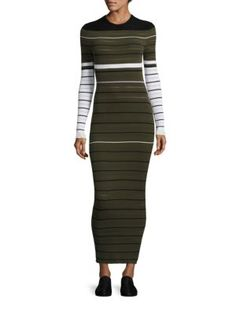 OPENING CEREMONY Striped Ribbed Dress. #openingceremony #cloth #dress