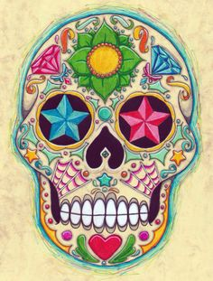 sugar skull 2 by koxnas on deviantART Sugar Scull, Sugar Skull Art, Mexican Skulls, Mexican Folk Art, Catrina Tattoo, Totenkopf Tattoos, Sugar Skull Design, Skull Artwork, Skull Wallpaper
