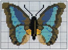 q Bead Crafts, Doll Crafts, Butterfly Cross Stitch, Cross Stitch Boards, Needlepoint Designs, Melting Beads, Cross Stitch Animals, Beaded Animals, Loom Weaving