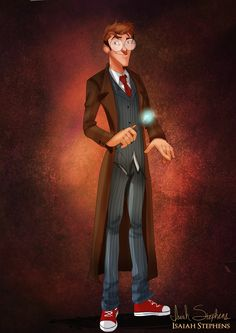 Disney Halloween: Milo Thatch as The Doctor (Tennant) by Isaiah K. Stephens