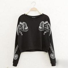 JVL - Printed Cropped Sweatshirt