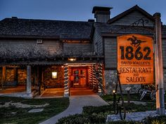 6. 1862 David Walley's Restaurant and Saloon, 2001 Foothill Rd., Genoa (775) 783-0788