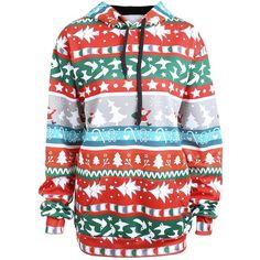 95265c47807e2 Red 5xl Christmas Santa Claus Plus Size Hoodie (1
