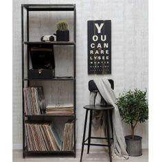 Factory style høj reol møbler og brugskunst på www.galleri-hebe.dk