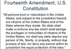This day in 1868, the 14th Amendment, guaranteeing to African Americans citizenship and all its privileges, is officially adopted into the U.S. Constitution. This was the beginning of long journey to equal rights and opportunity for all people born in this country including blacks.