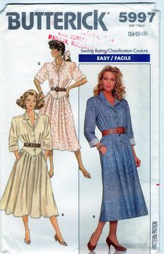 Vintage Women's DropWaist Dress Pattern by WaywardWindCrafts, $4.99