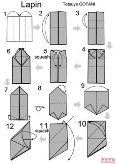 origami rabbit origami rabbit instructions how to origami bunny rabbit?How to foldorigamibunny or rabbit diagrams. Easy and advanced folding instructions with bunny diagrams ranging…
