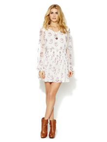 Check out the boots.  Printed Wild Flower Dress by Free People at Gilt