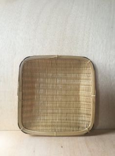 Vintage 1970s Bohemian Square Bamboo Hand Woven by ForestaVintage