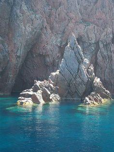 Corsica, France - Les Calanches (Ajaccio, Piana, Gulf of Porto) Posdon seat, Gulf of Porto, Corsica