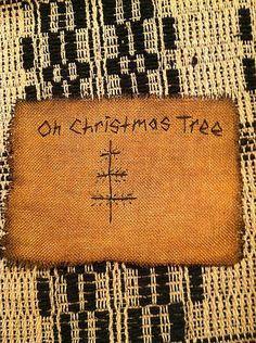 Primitive Christmas Sampler Christmas Tree Cross Stitchery Free Shipping | eBay