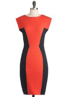 Things Are Looking Uptown Dress in Orange