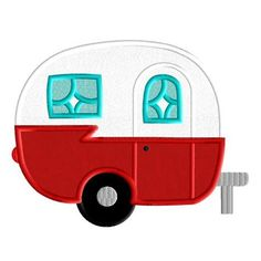 Retro Camper Applique Design